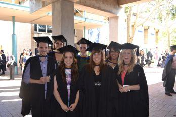 L-R Andrew Brown, Samantha Fidge, Amy Butcher, Tyler Whitmarsh, Nicole Monk, Candice Hartman and Tristan Grainger. Photograph: courtesy of Amy Butcher, April 2013.