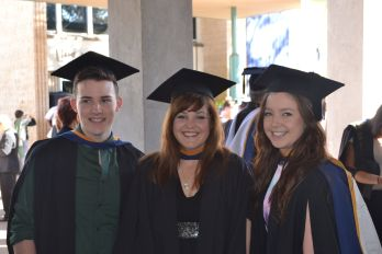 L-R Tyler Whitmarsh, Nicole Monk and Amy Butcher. Photograph: courtesy of Amy Butcher, April 2013.